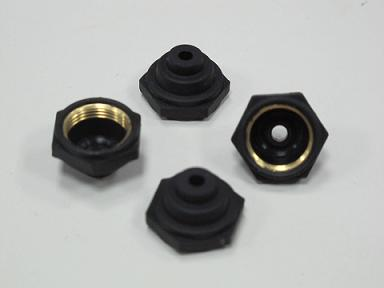 Rubber mountings (rubber to metal bonded) component